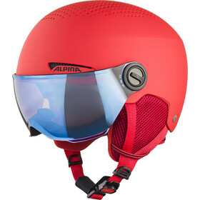 Alpina Visor Zupo 51-55cm Kids, red matt